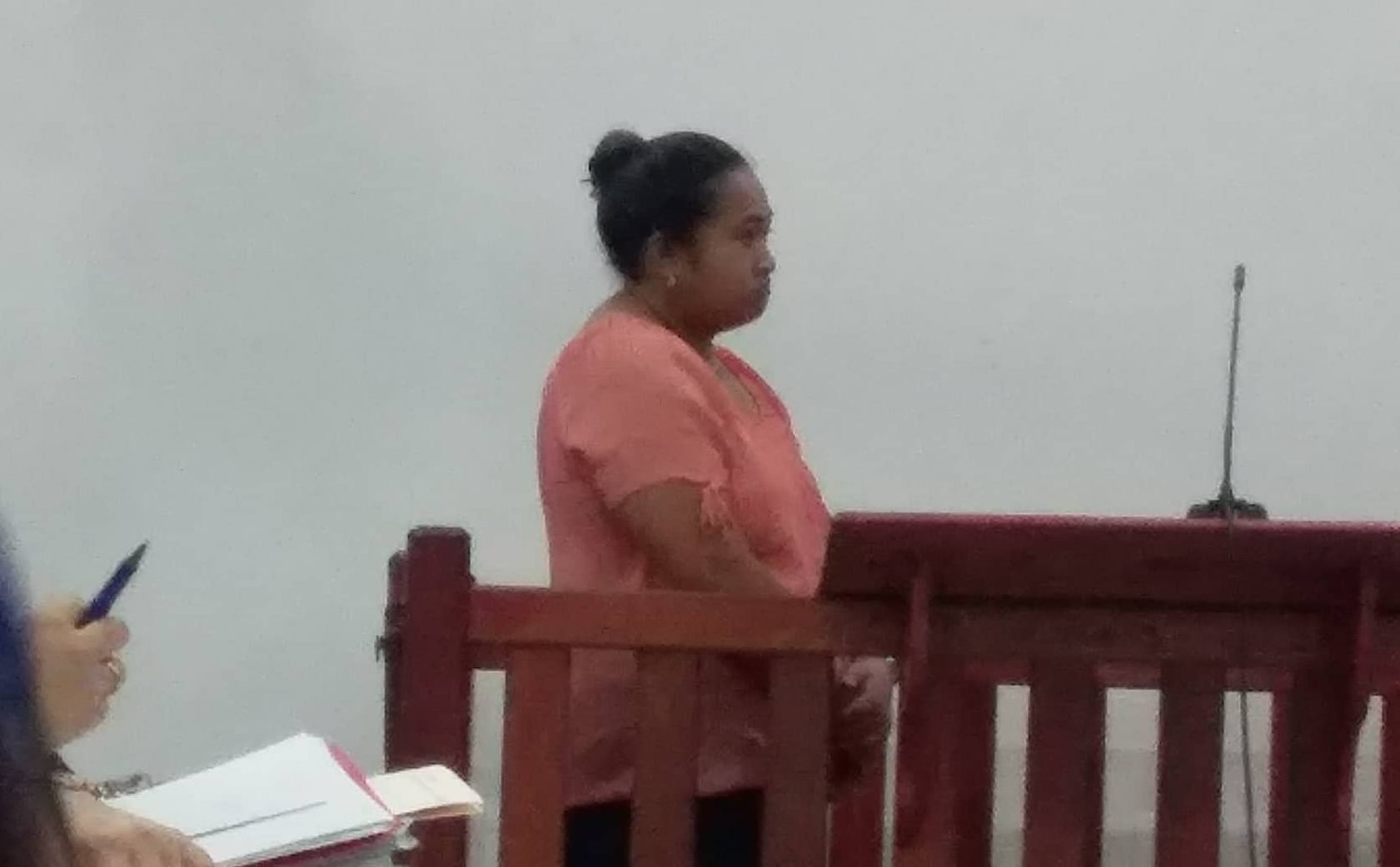 Family members of the deceased the late Sa'u Justina Sa'u were seen at the court house this afternoon.