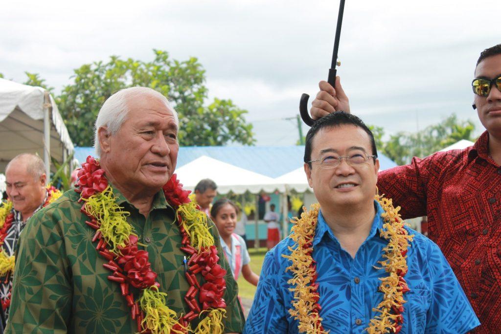 CONTINUING SUPPORT: Ambassador Extraordinary and Plenipotentiary of Japan to Samoa, H.E. Maugaoleatuolo Shinya Aoki with the Acting Prime Minister and Minister of Health, Hon. Tuitama Dr. Leao Talalelei Tuitama.
