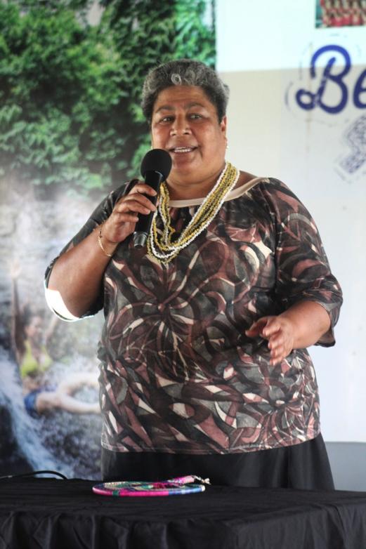 (Samoa's New Zealand based RSE Liaison Officer Lemalu Nele Leilua)
