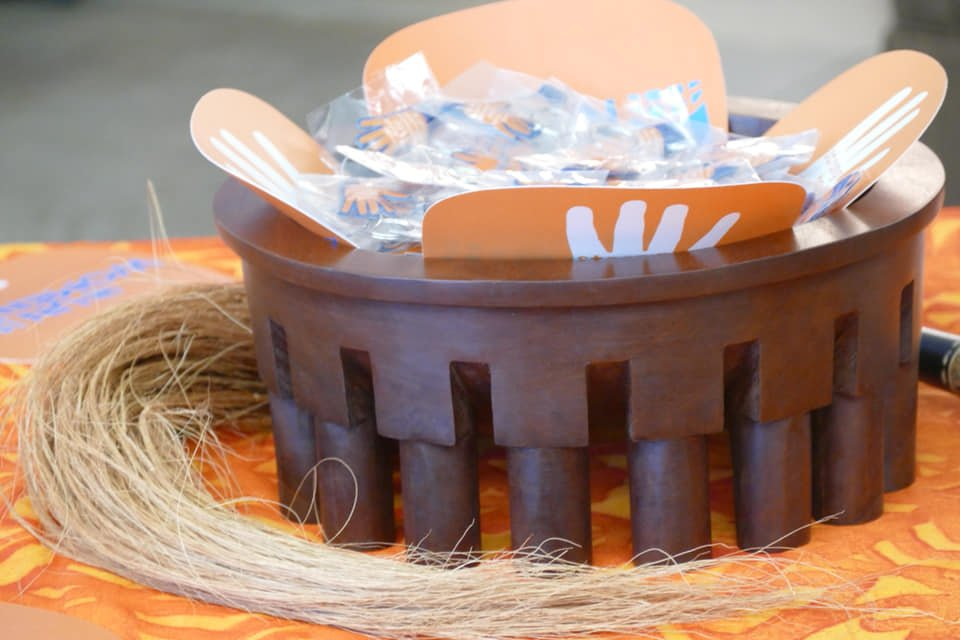 Memorabilia's on display in a traditional ava bowl to commemorate 16 Days of Activism.