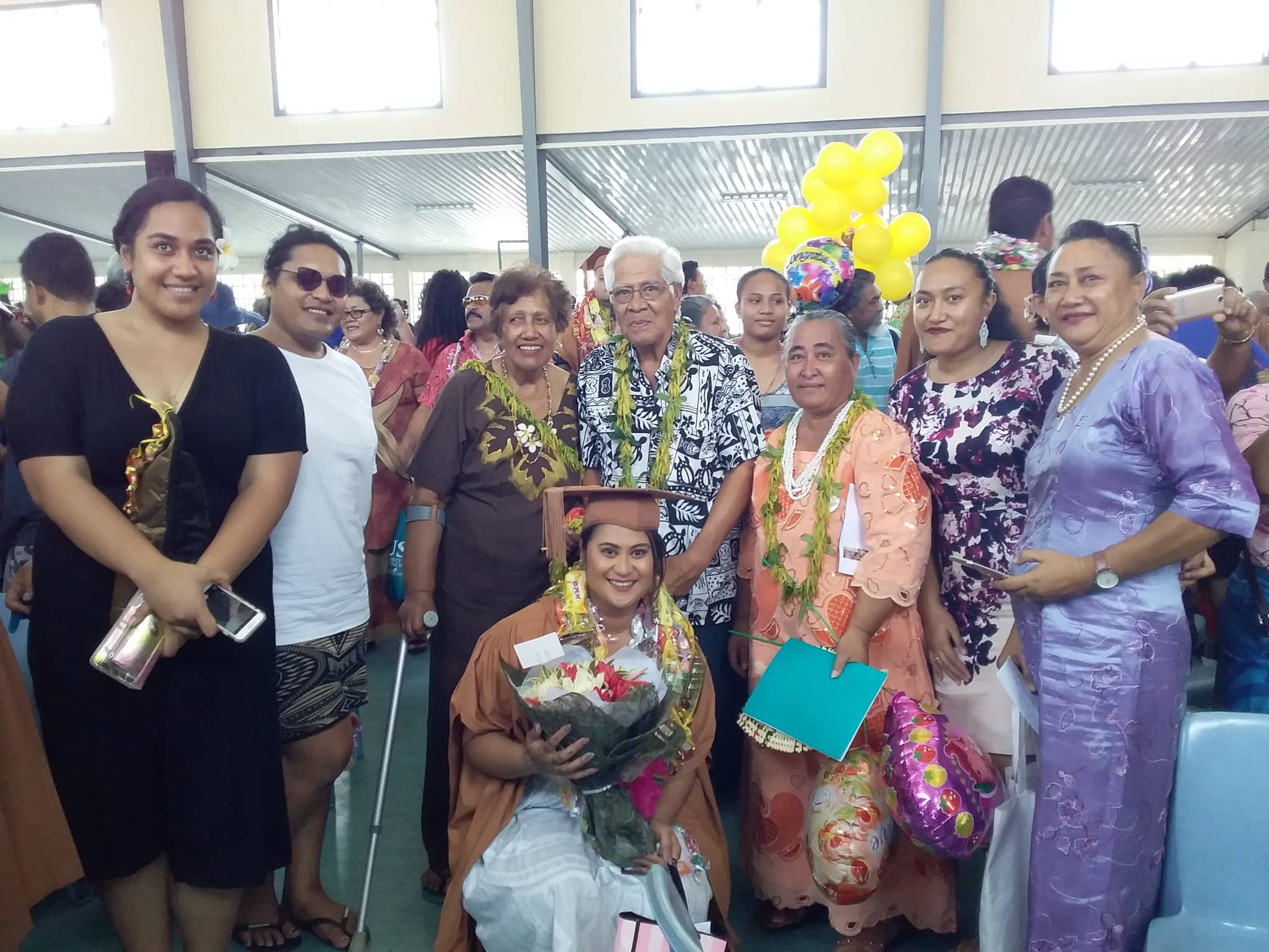 Fuamata with her proud family and friends