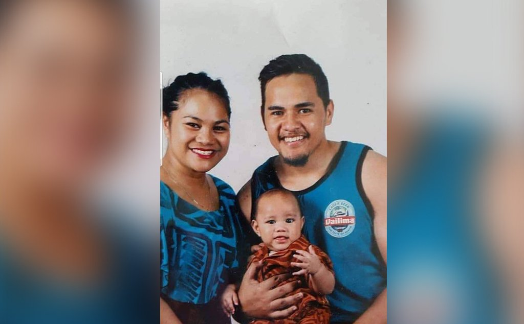 Malaki Tauiliili with his son and younger sister