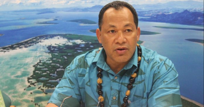 Director General of SPREP Leota Kosi Latu who will be co-leading the project with MNRE to Greenify the 2019 Pacific Games (PC: Government of Samoa)
