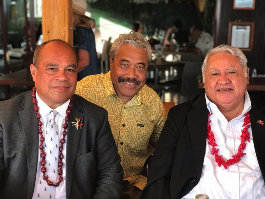 (L-R); New Zealand's Pacific Peoples Minister, Aupito Sua William Sio, Fa'amatuainu Tino Pereira and Prime Minister Tuilaepa in Wellington this week.