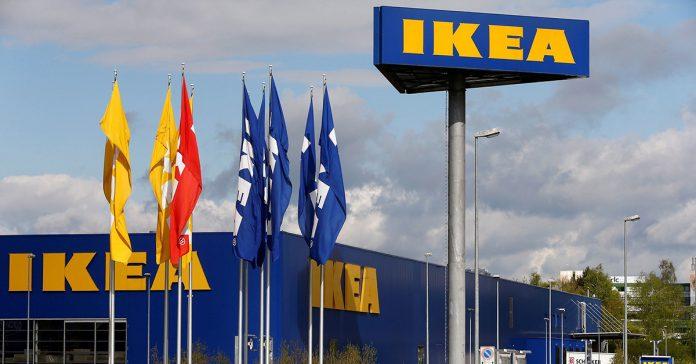 The company's logo outside of an IKEA Group store.Arnd Wiegmann / Reuters file