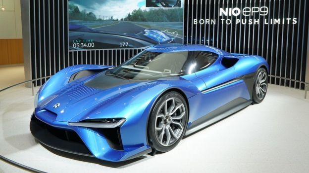 GETTY IMAGES China's Nio EP9 electric supercar was unveiled in 2018