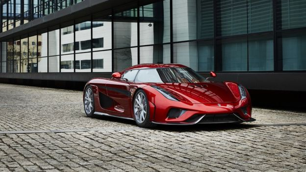 KOENIGSEGG Koenigsegg's Regera combines a twin-turbo V8 petrol engine with three electric motors