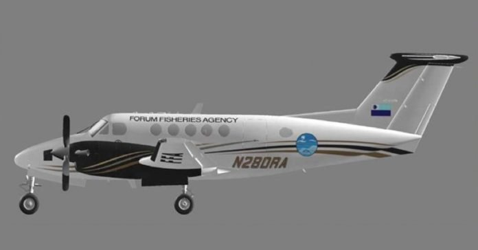 One of two King Air200 Aerial Surveillance Aircrafts that will be based in Samoa