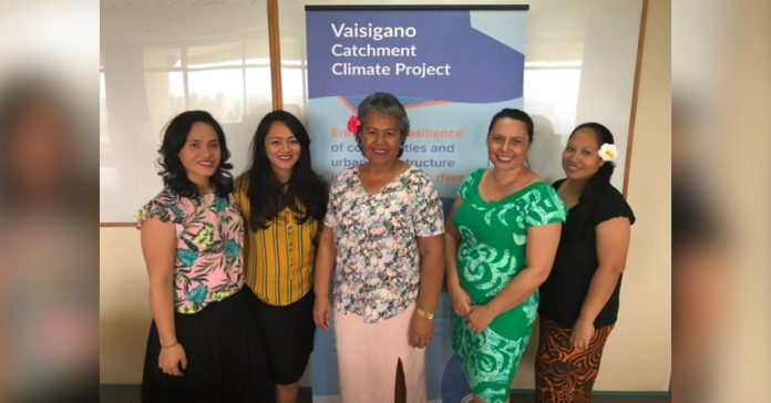 Some of the ladies working hard behind the scenes at the VCP PMU (l-r) Nola Talaepa-Patu, Papalii Ropeta Lei Sam, Pisaina Leilua-Lei Sam, Anne Milbank, Pupaia Leung Wai.