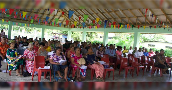 Participants of the first workshop at Vailima yesterday from the villages of Afiamalu, Letava, Tiapapata, Vaoala, Vailima & Avele. Photo: UNDP/Samoa