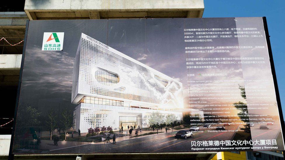 LAZARA MARINKOVIC The embassy site is being turned into one of the largest Chinese cultural centres in Europe