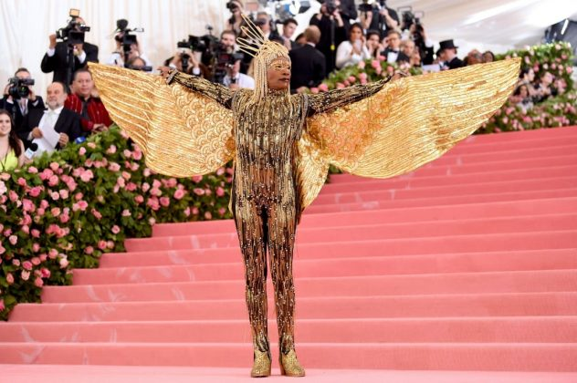 """Pose"" star Billy Porter has been the darling of this year's red carpets, having lit up the Oscars and the Golden Globes with his bold fashion choices. He didn't disappoint at the Met Gala, arriving in a chaise carried by six shirtless men. His Ancient Egypt-inspired outfit included a gold jumpsuit with wings by The Blonds. Jamie McCarthy/Getty Images"