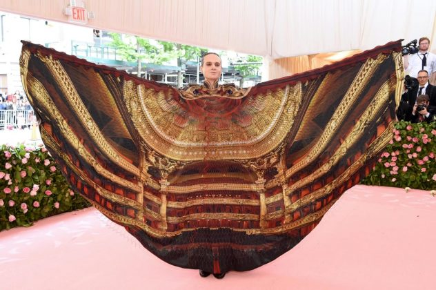 Broadway theater-owner Jordan Roth stunned onlookers with this elaborate winged outfit designed by Iris van Herpen.Jamie McCarthy/Getty Images