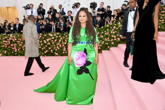 Ava DuVernay arrives in an eye-catching green gown by Prada.Dia Dipasupil/FilmMagic/Getty Images