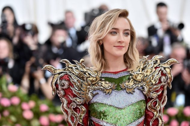 Saoirse Ronan arrived in a sequined dress by Gucci.Theo Wargo/WireImage/Getty Images