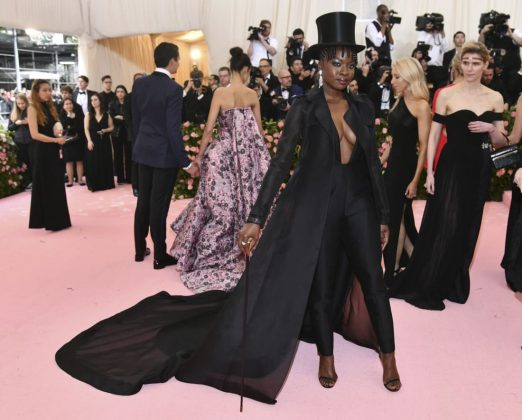 Danai Gurira looked decidedly theatrical in a Gabriela Hearst all-black outfit paired with a top hat and cane. Charles Sykes/Invision/AP