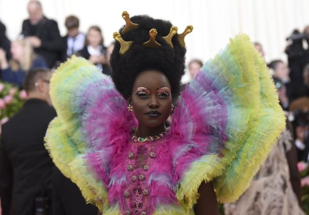 Having wowed onlookers at the Met Gala red carpets in 2016 and 2017, Lupita Nyong'o missed last year's event due to clashing commitments at Cannes Film Festival. She returned with a bang this year, sporting a colorful custom Versace outfit paired with Bulgari jewelry.Evan Agostini/Invision/AP