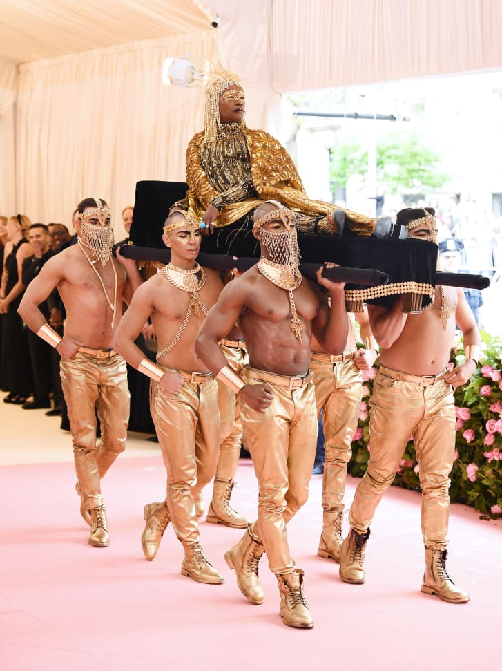 Billy Porter makes an entrance at the Met Gala. Credit: Dimitrios Kambouris/Getty Images North America/Getty Images for The Met Museum/