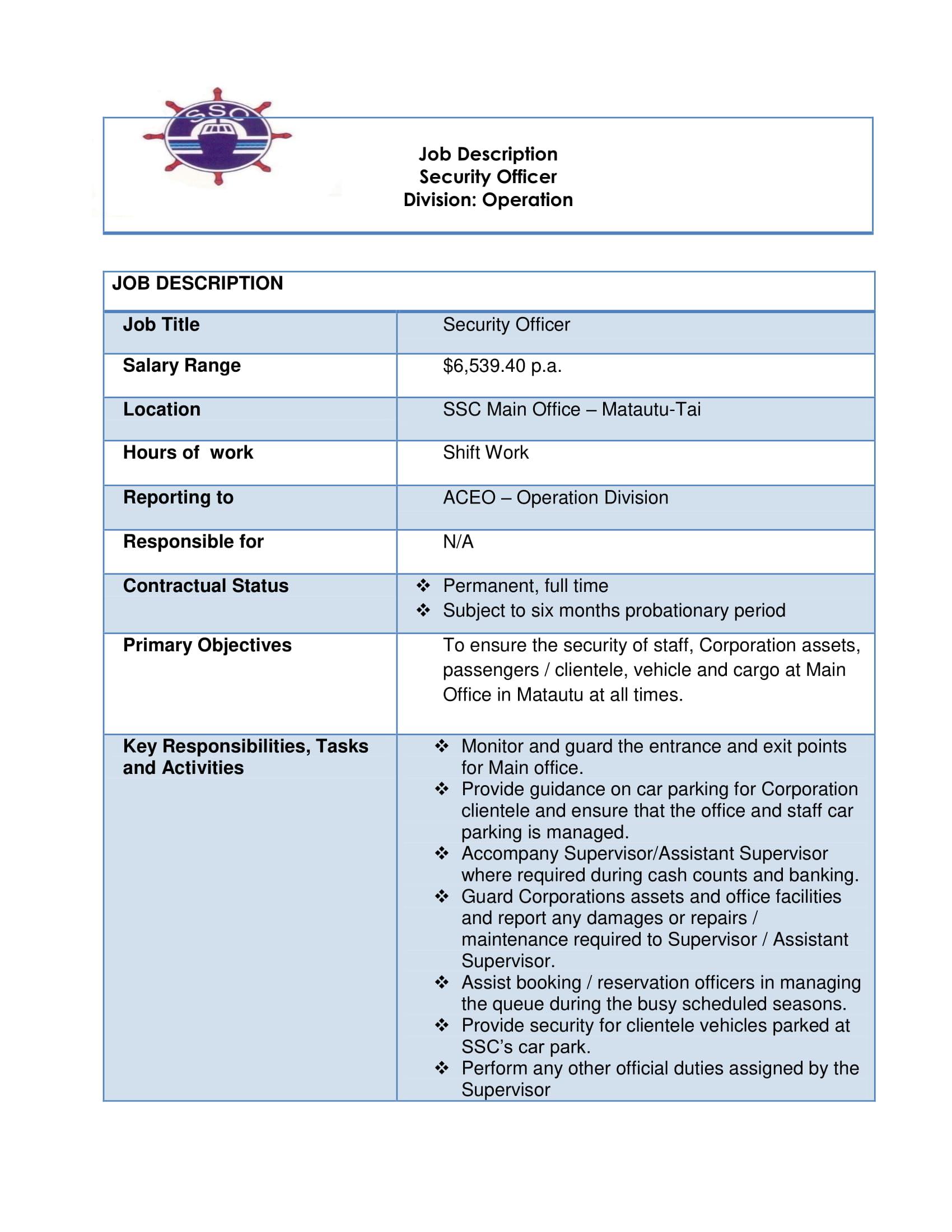 Job Vacancy - Security Officer - Matautu-tai - Samoa Global News