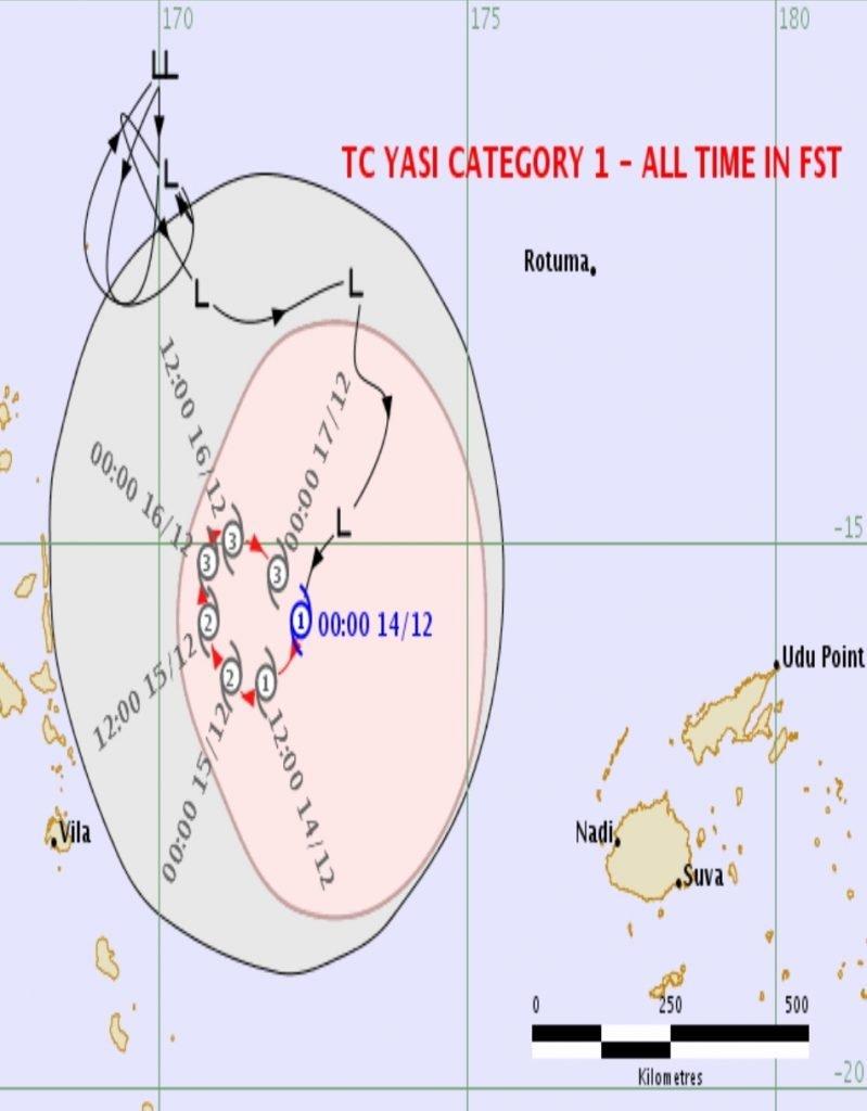 Tropical Cyclone Yasa Between Fiji And Vanuatu Samoa Global News