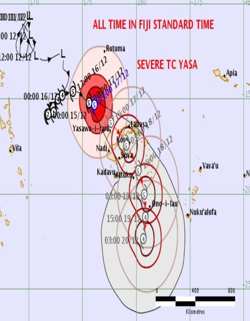 Fiji Braces For Severe Cat 5 Tropical Cyclone Yasa Samoa Global News